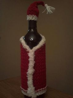 e200c88600c Items similar to Santa Wine bottle cozy ready to ship on Etsy