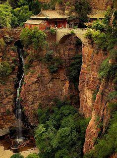 Fu Qing Temple in Mt. Cang Yan, Shi Jiazhuang, He Bei province, China.  苍岩山福庆寺,位于河北省石家庄