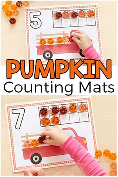 Fall Pumpkin Counting Mats