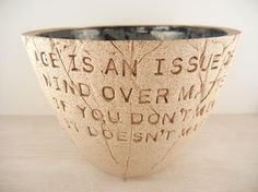 Mark Twain  Mind Over Matter Age Wisdom Quote  Pottery Bowl