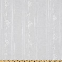 Pintuck Batiste Stripe White - Discount Designer Fabric - Fabric.com