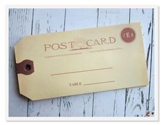 Vintage Escort Cards Country Post Card Escort Tags by greenridge, $5.49