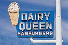 vintage Dairy Queen sign by ezeiza, via Flickr