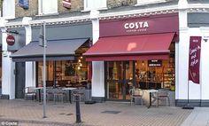 Costa Coffee trials new store design concept in London Visual Merchandising, Coffee Shop Counter, Coffee London, London Design Week, Costa Coffee, High Street Stores, Uk Retail, Cafe Interior Design, Branding