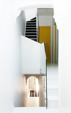 #architecture #design #interior #sydney #city #house #staircase #yellow #colour #white
