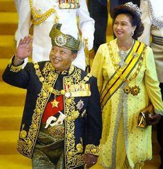 King Tuanku Syed Sirajuddin XII and his wife queen Fauziah of Perlis, Malaysia