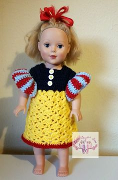 Little Luvies Shop: Poofy Princess Sleeves Tutorial: Add princess sleeves to your crocheted dresses! #crochet #littleluviesshop