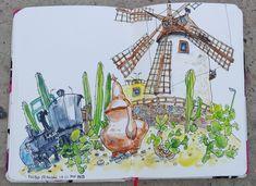 Mogan village. Gran Canaria Painting, Art, Travel Smash Book, Notebooks, Art Background, Painting Art, Kunst, Paintings, Performing Arts