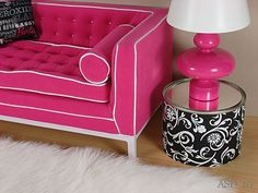 Jonathan Adler Barbie sofa and handmade accessories By Diva Details 1:6th Scale