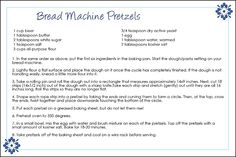 Pretzels Bread Machine Recipe