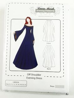 Off Should Evening/Medieval Dress Sewing by lauramarshdesigns, £7.99