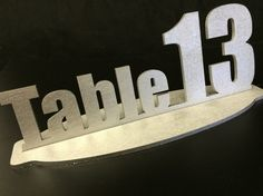 Self-Standing Table Number Sign - Block via With Luv Design wedding table tops