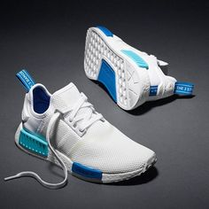 """Adidas NMD 'White/Blue' shop now with us! Available now Mens/ladies sizes <span class=""""emoji emoji26aa""""></span>️<span class=""""emoji emoji1f535""""></span><span class=""""emoji emoji1f64c""""></span> <span class=""""emoji emoji26a1""""></span>️ ..."""