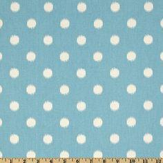 IKAT WINDOW VALANCE - Premier Prints Ikat Dots Arctic Blue/Natural -50 x 16- Window Treatment - Nursery Boys Room