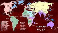 This alternate history map is if the Mongols took hold of more land and had a lasting empire.
