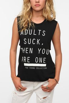 Blood Is The New Black Adults Suck Tee  #UrbanOutfitters    just like it for the sentiment