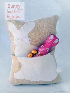 Bunny Basket Pillows