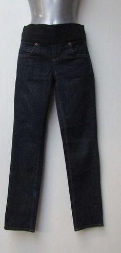 f393ca8d7a0df Topshop Moto Baxter Maternity Jeans Size 8 Under Bump Blue Denim Slim 29