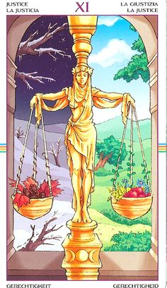 Wheel of the Year Tarot -- Justice