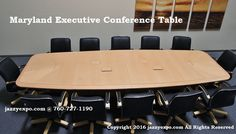 Maryland Executive Conference Table in Light Maple. It comes in 10 ft - 24 ft or you can order a custom larger size. See website for details.