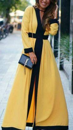 Women's Color Block V Neck Backless Maxi Dress