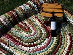 Custom Made! Crocheted Rag Rugs for EVERY room of your house!