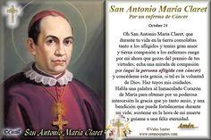 Rincón de la Oración: Estampa Oración San Antonio María Claret