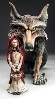 Mitchell Grafton>Ceramic (Little Red Riding Hood and the Wolf)
