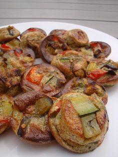 Les Plaisirs de Carlie: Mini-clafoutis aux légumes