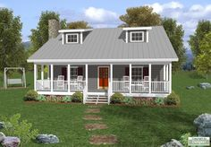 Cottage floor plans selected nearly ready-made house plans by leading architects and house plan designers. Cottage house plans can be customized for you. Cottage House Plans, Country House Plans, Country Style Homes, Cottage Homes, Cottage Style, Small Country Homes, Country Houses, Best House Plans, Small House Plans