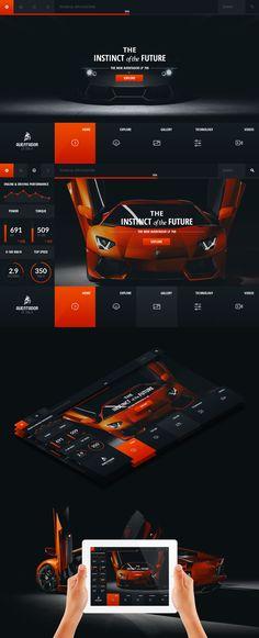 Lamborghini Aventador - Web Layout by detrans #webdesign