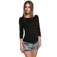 Women Ladies Sexy Long Sleeve Leopard Backless Lace Decor Casual Club Tops Blouse