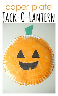 Paper Plate Jack-O-Lantern & Easy Halloween Craft and Activities – No Time For Flash Cards Einfaches Halloween-Basteln Theme Halloween, Halloween Crafts For Kids, Halloween Activities, Halloween Projects, Holidays Halloween, Fall Crafts, Holiday Crafts, Holiday Fun, Preschool Halloween