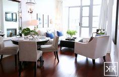Suzie: Kerrisdale Design - Elegant living room & dining room combo design with espresso round ...