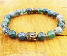 Check out this item in my Etsy shop https://www.etsy.com/uk/listing/256735464/buddha-moss-agate-bracelet-abundance