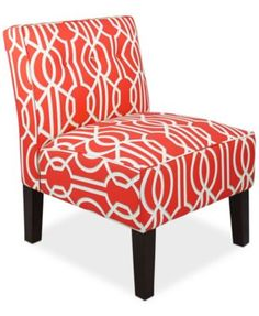Calabasas Deco Fabric Accent Chair Quick Ship Created For Macys