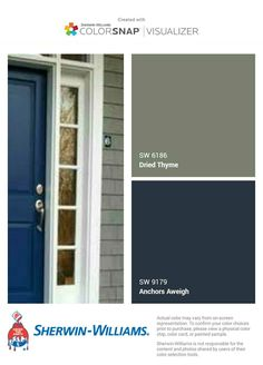 House Exterior Color Schemes, Exterior Paint Colors For House, Paint Colors For Home, Exterior Colors, Front Door Paint Colors, Painted Front Doors, Sage Green House, Grafton House, Outside House Colors