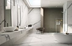 "Marmi Maximum: Calacatta Statuario 120""x60"" Porcelain Panels offered by Dwyer Marble & Stone"