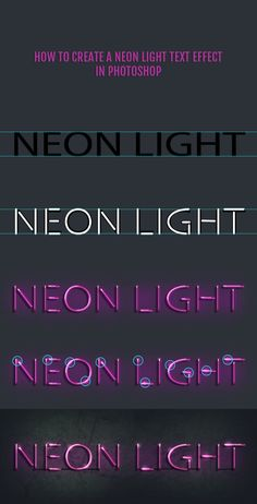 -Neon lights have a cool vintage look. Recreating that look in Photoshop is surpr… Neon lights have a cool vintage look. Recreating that look in Photoshop is surprisingly easy. Web Design Trends, Graphisches Design, Graphic Design Tutorials, Graphic Design Inspiration, Neon Design, Vector Design, Design Ideas, Photoshop For Photographers, Photoshop Photography
