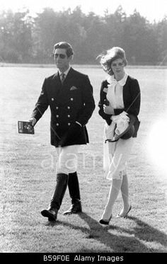 Prince Charles and Lady Sarah Spencer in 1977 when they briefly dated.