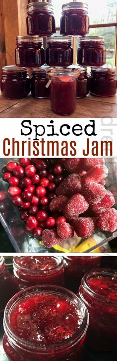 Sliced Christmas jam recipe and it currently ranks in at the spot right behind my all time favorite, carrot cake jam {which honestly, I can't imagine will every get knocked off the spot}. This recipe for spiced Christmas jam is THE PERFECT jar of … Jelly Recipes, Jam Recipes, Canning Recipes, Holiday Recipes, Recipies, Canning 101, Pressure Canning, Free Recipes, Christmas Jam