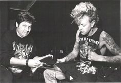 Brian & Bobby Gilcken, can we appreciate how on point Brian's tattoos look here. /@sarahdeanbaker