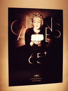 Affiche du festival de Cannes.  #orange #festivaldecannes2012