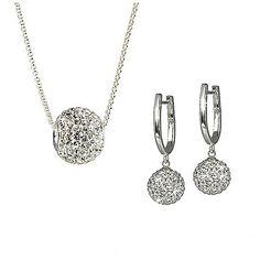 Set SilberDream cercei, lanț, pandantiv argint cu sfere Swarovski albe Swarovski, Silver, Jewelry, Jewlery, Jewerly, Schmuck, Jewels, Jewelery, Fine Jewelry