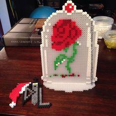 Beast's Rose - Beauty and the Beast perler beads by darklinkdesigns