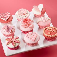 Give your sweetheart a box of beautifully decorated cupcakes this Valentine's Day, or create them for a bridal shower. Use our various Fondant and Gum Paste Molds to add the decorative embellishments.