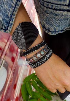 Black geometric macrame bracelet,Luxurious jewelry,Jewelry M Macrame Bracelet Diy, Macrame Jewelry, Metal Jewelry, Silver Jewelry, Macrame Knots, Ceramic Jewelry, Turquoise Jewelry, Silver Ring, Jewelry Logo
