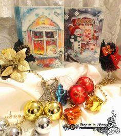 ahşap boyama kitap kutu Stencil, Decoupage, Christmas Ornaments, Holiday Decor, Jewelry, Noel, Jewlery, Jewerly, Stenciled Table