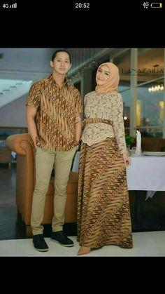 Trendy Dress Hijab Batik Beautiful S Kebaya Hijab, Kebaya Dress, Batik Kebaya, Batik Dress, Best Casual Dresses, Trendy Dresses, Batik Fashion, Hijab Fashion, Women's Fashion