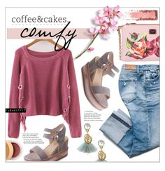 """""""coffe&cakes - rosegal"""" by fash-outfit ❤ liked on Polyvore featuring Dolce&Gabbana and Caudalíe"""